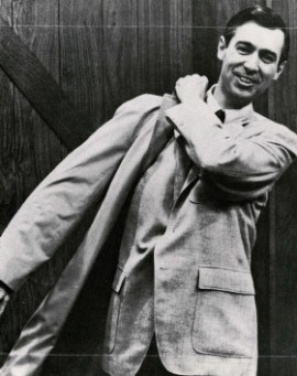 Image of a young Fred Rogers (not Fred Clark, sorry).